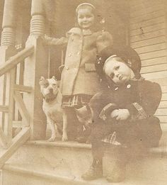 """The Pit Bull Terriers have had a bad name and it seems that every other week we hear a """"baby mauled by a pit bull"""" story. Vintage Pictures, Old Pictures, Time Pictures, Pitbulls, Bull Terrier Dog, Bull Dog, Nanny Dog, Vintage Dog, Vintage Children"""
