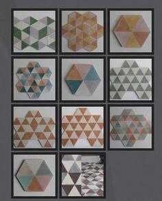 Handmade Popham Hex Zulu Tile-Green, Tiles - Wall & Floor Tiles - Cement Wall & Floor Tiles