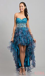 Buy High Low Strapless Sweetheart Dress at PromGirl