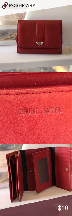 Red genuine leather wallet Very cute and roomy red wallet made with genuine leather Bags Wallets