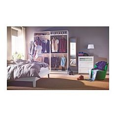 IKEA - STAVE, Mirror, white, 40x160 cm, , The mirror can be angled if you choose to mount it with the enclosed hinges.Look at yourself from all directions - mount three mirrors in a row.Can be hung horizontally or vertically.Safety film  reduces damage if glass is broken.