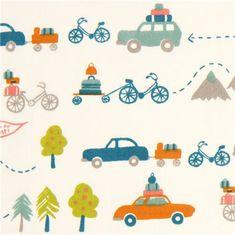 white travel car and bike organic fabric by birch USA
