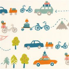 white travel car and bike organic fabric by birch USA
