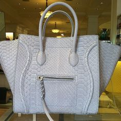 Super rare Celine phantom in powder blue python - @BagboysNYC ...