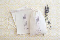 Wedding Favor Bags  Lavender Favor Bags  by becollective on Etsy, $14.00