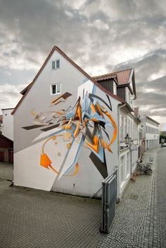 Daim faz grafitis que dão a ilusão de 3d de forma muito perfeita.