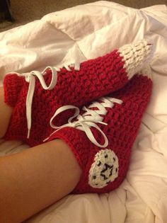 Converse Slipper Socks By Amy Dutsch - Free Crochet Pattern - (ravelry)