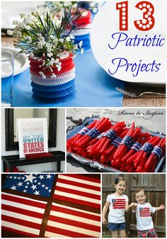 red white and blue table decorations | Easy DIY Fourth of July Decorating Ideas (Part Two!)