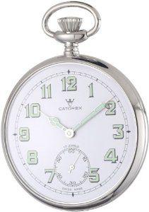Catorex Men's 170.1.1810.121 La Pautele Palladium Brass White Dial Pocket Watch Catorex. $870.44