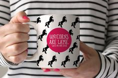 unicorns are lame coffee mug | swanky press