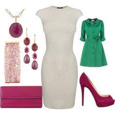 White&green&pink. Dress... amazing!