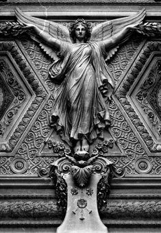 The Louvre ceiling.another reason to make a return visit to The Louvre. I hear Paris calling my name. Angels Among Us, Angels And Demons, Statue Ange, Louvre Paris, Montmartre Paris, I Believe In Angels, Cemetery Art, Cemetery Angels, Art Sculpture