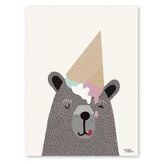 I love Ice Cream Poster - Michelle Carlslund Illustration Kids Prints, Art Prints, Ice Cream Poster, Baby Posters, Kids Poster, Print Poster, Cute Illustration, Character Illustration, Ice Cream Illustration
