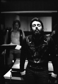 "Paul during the ""RAM"" recording sessions, New York, 1971"