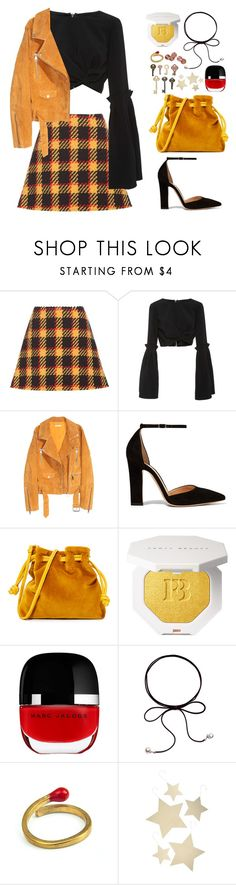 """""""Hazard lights"""" by finding-0riginality ❤ liked on Polyvore featuring Marni, Christian Siriano, SKINN, Gianvito Rossi, Clare V., Marc Jacobs and Bethany Lowe"""
