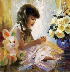 famous paintings of women | ... Volegov children paintings10 Children paintings by Vladimir Volegov