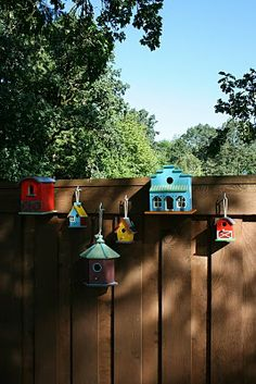 I like the multiple bird house concept. Might think about doing something simial on diffrent size poles along the fence line by the neighbors stupid hedge.