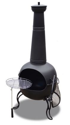 Outdoor Chiminea Fire Pit Steel Patio Heater Wood Burning Place Deck Garden Yard #Rustic