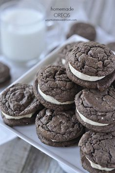 Homemade Oreos - A little softer and richer than the store bought version but oh so yummy!