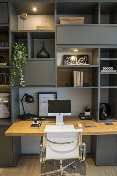Cool and Cozy Ideas for Home Office Design That Can Increase Your Productivity Home O .,Cool and Cozy Ideas for Home Office Design That Can Increase Your Productivity Home O . Mesa Home Office, Cozy Home Office, Home Office Space, Small Office, Home Office Desks, Home Office Furniture, Furniture Ideas, Furniture Design, Office Home