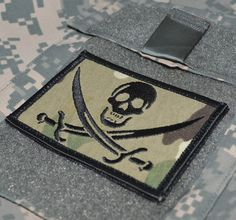 US Army ODA 925th Special Forces Calico Jack Uniform Patch Bekleidung & Schutzausrüstung Airsoft