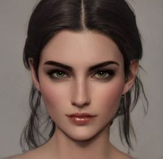 Digital Art Girl, Digital Portrait, Portrait Art, Portrait Photography, Girl Face, Woman Face, Character Portraits, Character Art, Donia