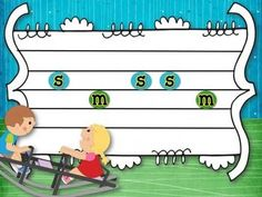 See Saw Up and Down - rhythm and melody slides for teaching ta and titi and…