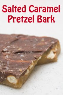 Salted Caramel Pretzel Bark. Exactly like what mom made with saltines only pretzels!