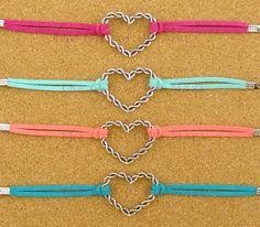 Heart Charm Bracelet--Antique Silver  Bracelet--Korean Cashmere -- Friendship Gift-Personalized Bracelet on Etsy, $1.99