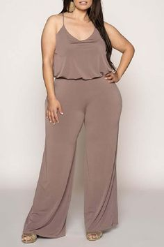 Spaghetti Strap fit and flare Romper – CurveGirl Plus Size Dresses, Plus Size Outfits, Girl With Curves, Fit And Flare, Compliments, Homecoming, Plus Size Fashion, Curve Girl, Wide Leg