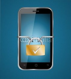 Vektor: smartphone sicher