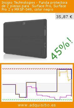 Incipio Technologies - Funda protectora de 2 piezas para  Surface Pro, Surface Pro 2 y MRSF-049, color negro (Ordenadores personales). Baja 45%! Precio actual 35,87 €, el precio anterior fue de 64,79 €. http://www.adquisitio.es/incipio-technologies/funda-protectora-2-piezas