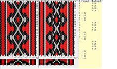 26 cards, 3 colors, repeats every 8 rows, 4F-4B, sed_1093, GTT༺֍