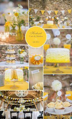 Gelb weiße Wimpelkette