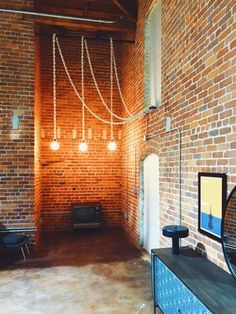 Rope Pendant Light, Warehouse Living, Pool Shower, How To Make Rope, Cord Cover, Wood Spoon, Light Installation, Light Fixtures, Diy Home