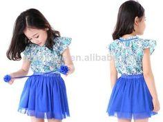 lovely blouse and skirt for children