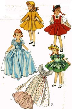 Vintage Doll Clothes PATTERN 4098 for 21 inch by BlondiesSpot, $10.99