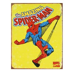 Amazing Spider-Man Distressed Retro Vintage Tin Sign