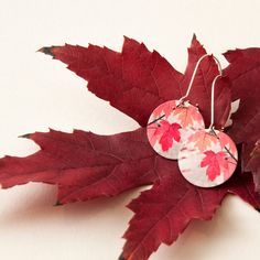 These Autumn earrings are part of my Two-in-one reversible earring range. Get two looks in one to change up your favourite outfit.  Printed