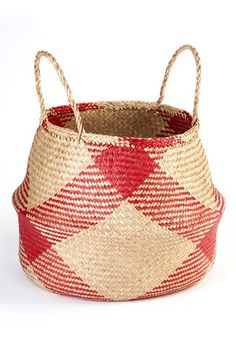 Add color and versatility to your living space with this vibrant, collapsible basket!