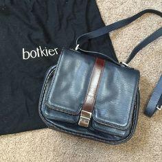 "Botkier navy satchel purse bag Size 8L x 10W, shoulder strap 44"" Botkier Bags Satchels"