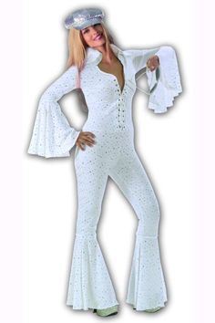 Jumpsuit 70er Disco Space Kostüm Disco Overall