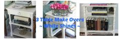 3 Table Makeovers with Chalk Paint ~ how I transformed 3 tables from drab to sparkling white with Old White Chalk paint for a farmhouse flair.