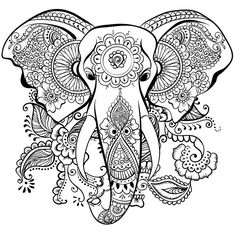 elephant mandala henna coloring page zentangle elephant mandala elephant tattoo elephant doodle elephant