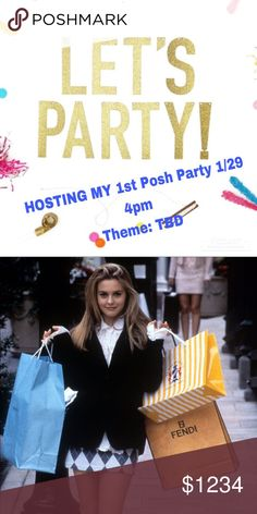 Let's Party Together Hosting my first posh party! I am so excited. Looking for posh compliant closets so I can start prepping for the coveted ✨HOST PICK✨ share the love Bags