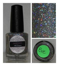 Daily Hues Nail Lacquer Eve  Holographic Silver Glitter