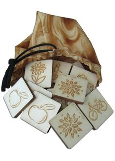 Solid Wooden Engraved Memory Tiles on Etsy, $25.50