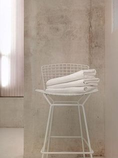 baths-white-counter-stools  like the color of the concrete here (for living area floor and bathroom)