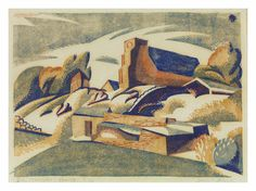 Dorothea (Dorrit) Foster Black - The Monastery Church, 1936 - linocut Australian Painters, Australian Artists, Landscape Paintings, Landscapes, Woodblock Print, Art Auction, Art Market, Printmaking, The Fosters