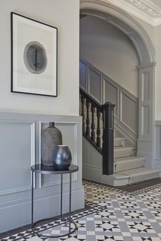 Victorian Home, Epping Hall Tiles, Tiled Hallway, Modern Hallway, Contemporary Hallway, Modern Victorian Homes, Victorian House Interiors, Edwardian House, Victorian Hallway, Victorian Living Room